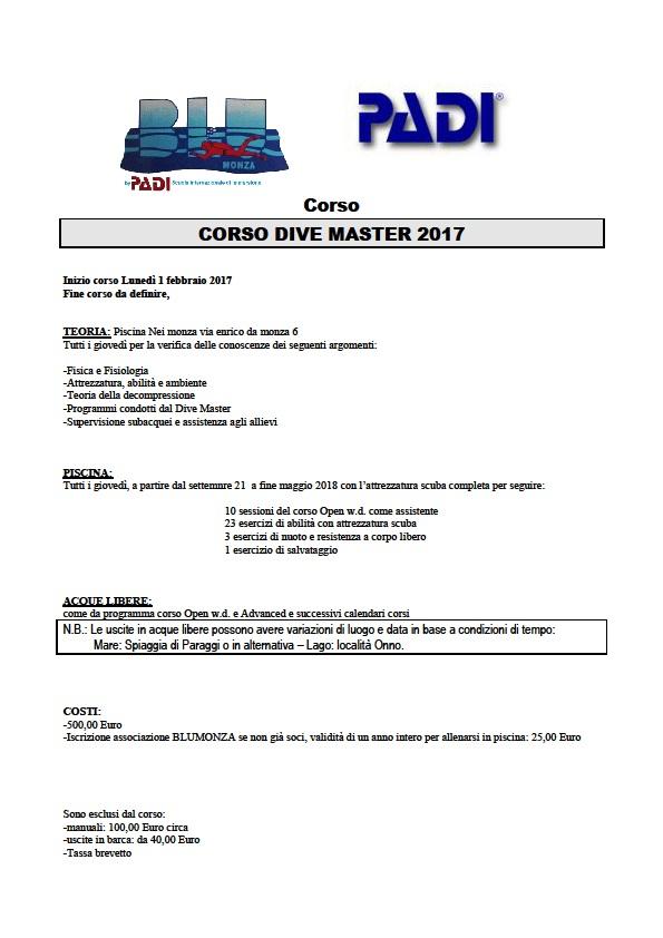 Corso Dive Master @ Monza | Lombardia | Italia